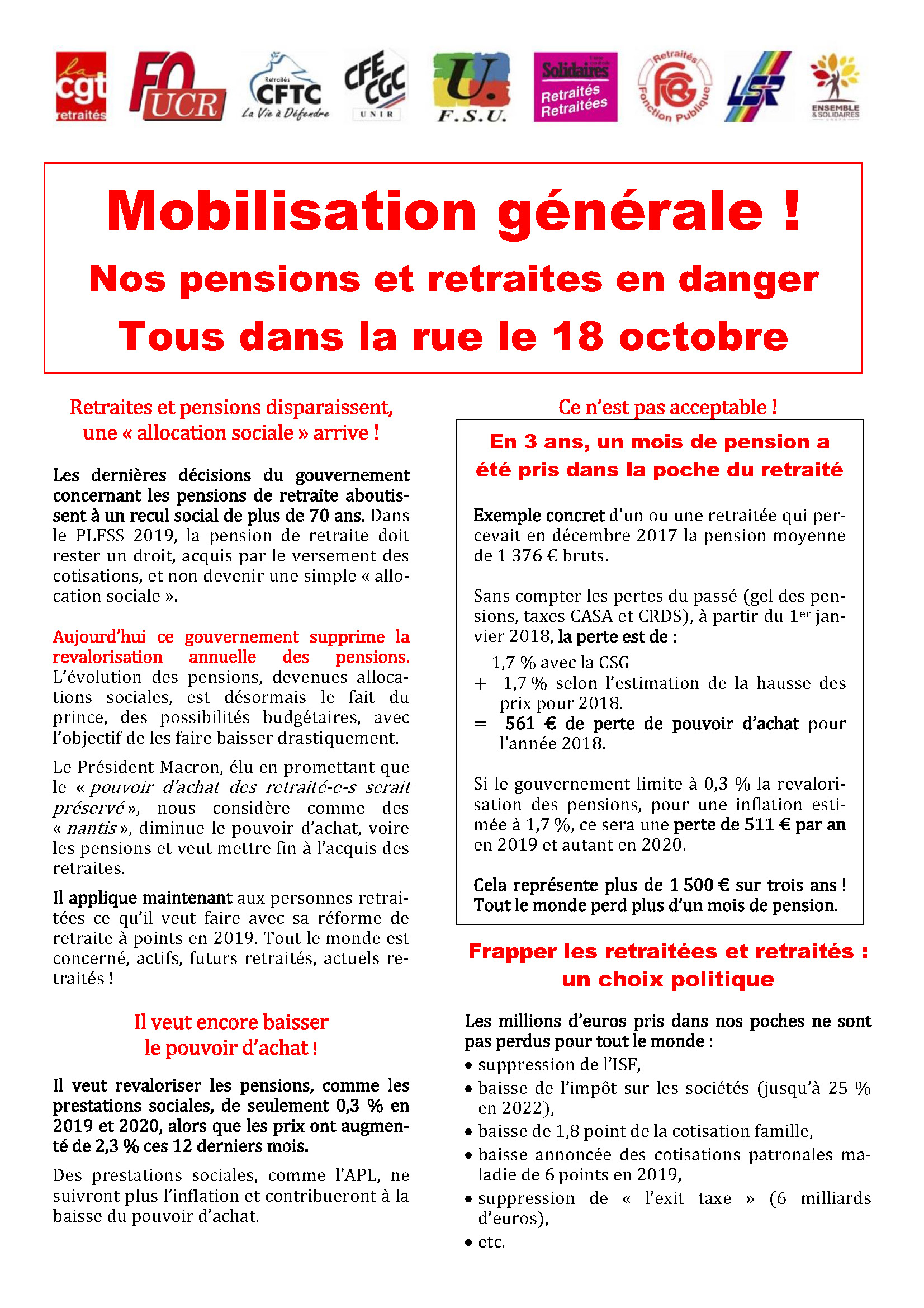 Tract 18 octobre Page 1